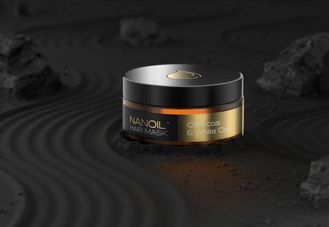 Rensa till håret! Nanoil Charcoal & White Clay Mask: Avgiftning för Håret, Reparering & Balans